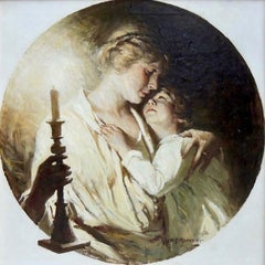 Mother with Child by Candlelight