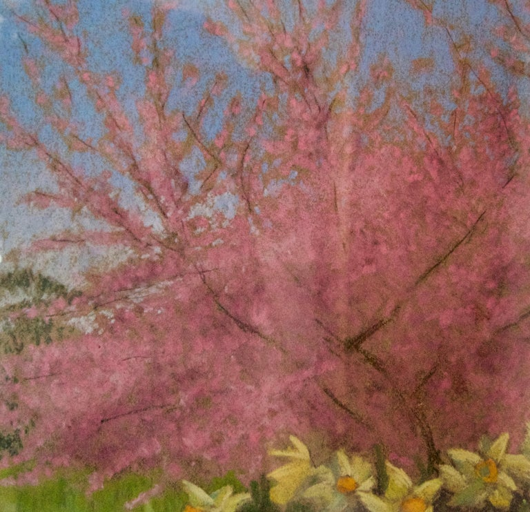 Apple Blossom Tree and Dandelions - Mid 20th Century Impressionist Landscape Oil - Post-Impressionist Painting by William Henry Innes