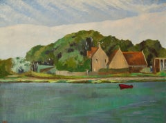 By The River Yar - Mid 20th Century Impressionist Oil by William Henry Innes
