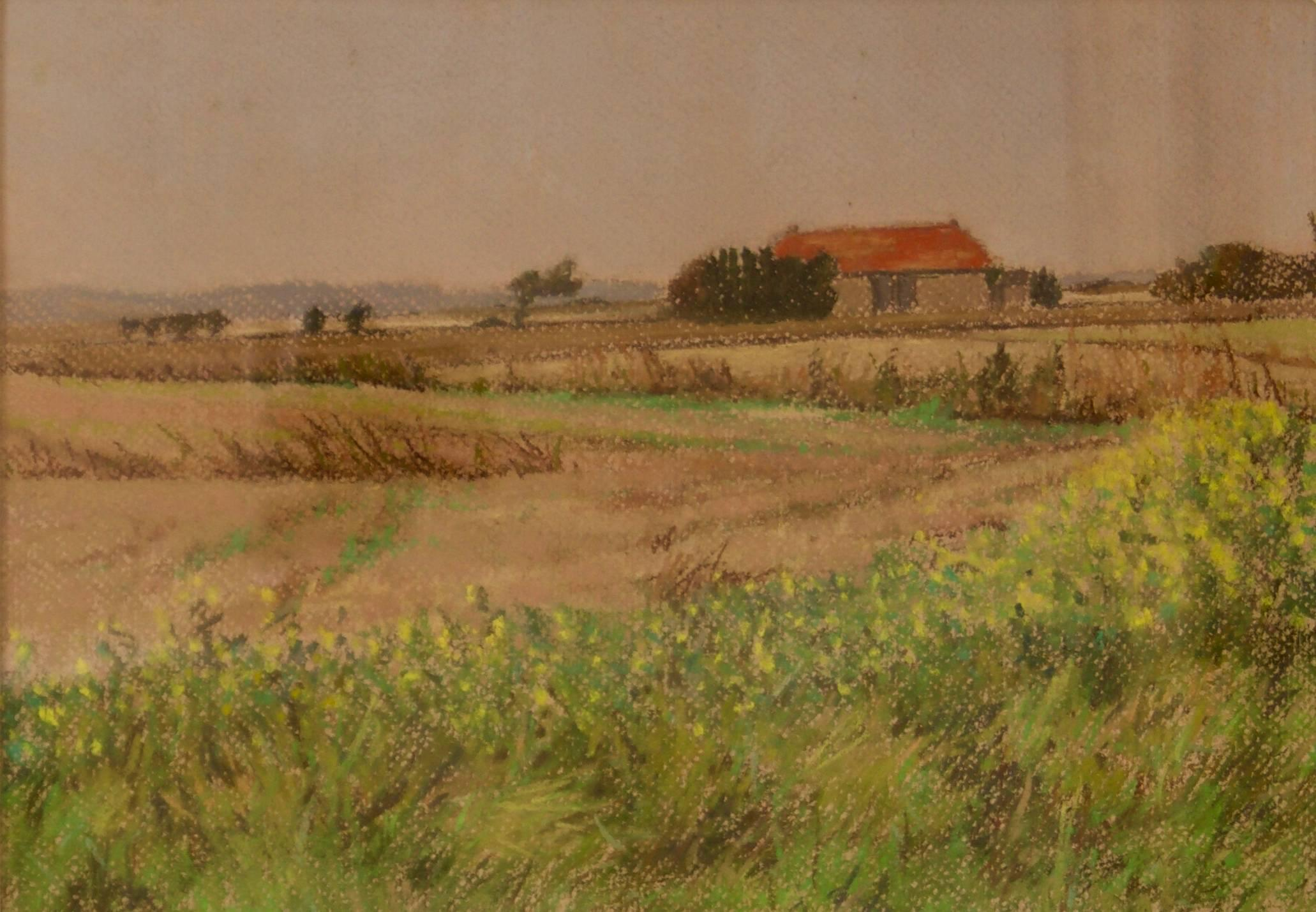 Cotswolds Landscape - Mid 20th Century Impressionist Oil by William Henry Innes
