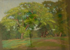 Forest - Late 20th Century Impressionist Oil Pastel Landscape by William Innes