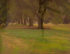 Hyde Park Pre Storm - Mid 20th Century Impressionist Oil Pastel by William Innes