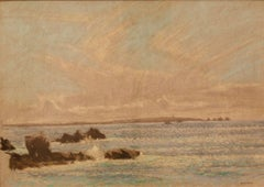 Seascape St Ives - Mid 20th Century Impressionist Pastel by William Henry Innes