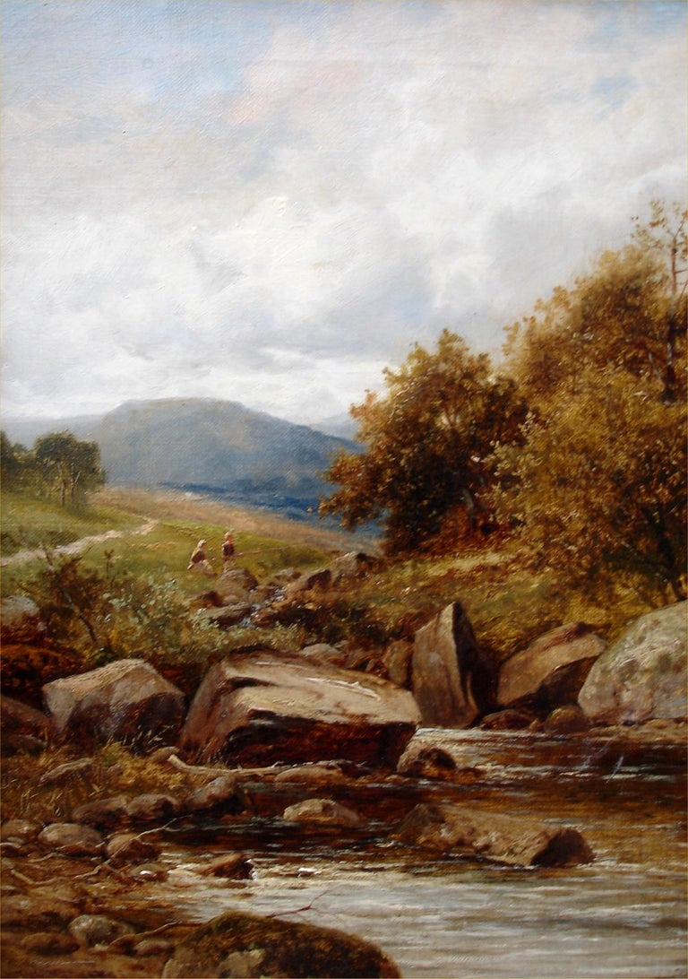 A Tributary of the Lledr - Painting by William Henry Mander