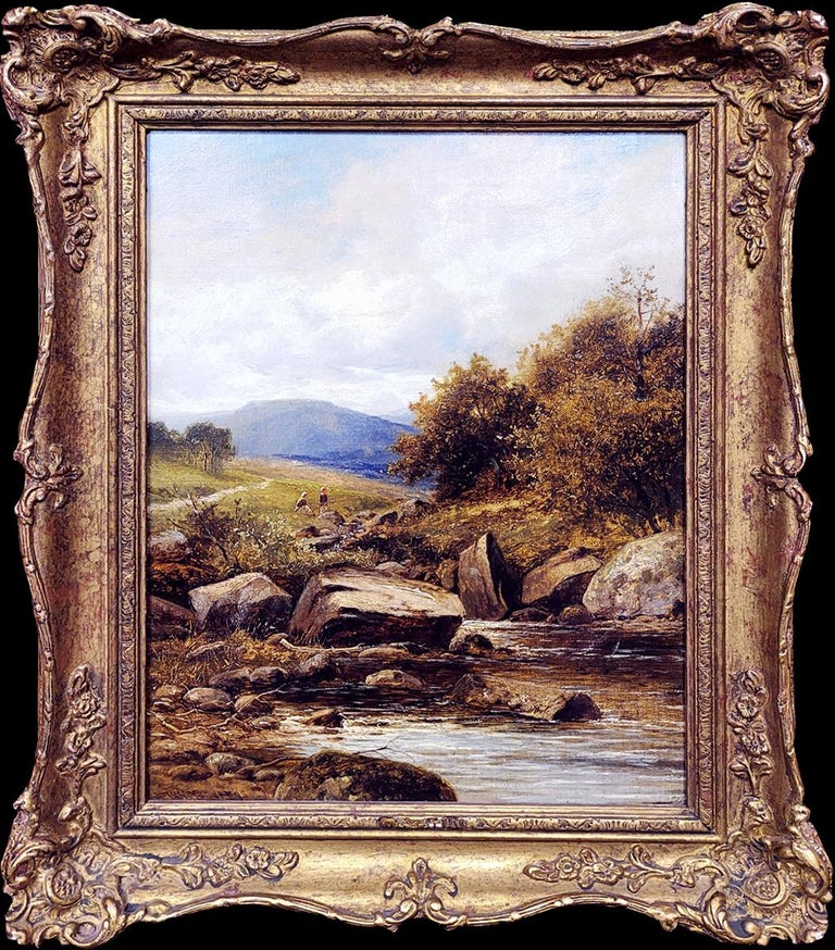 William Henry Mander Landscape Painting - A Tributary of the Lledr