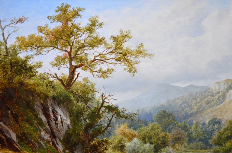 The Lledr Valley, North Wales - 19th Century River Landscape Oil Painting  For Sale 4