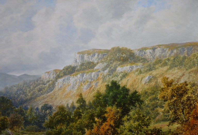 The Lledr Valley, North Wales - 19th Century River Landscape Oil Painting  For Sale 5