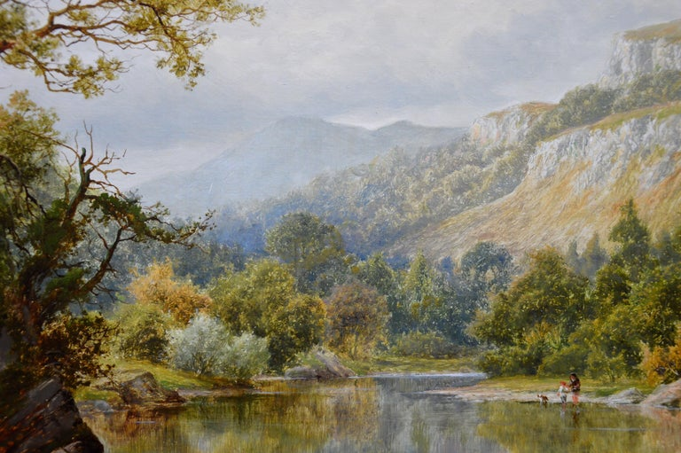 The Lledr Valley, North Wales - 19th Century River Landscape Oil Painting  For Sale 6