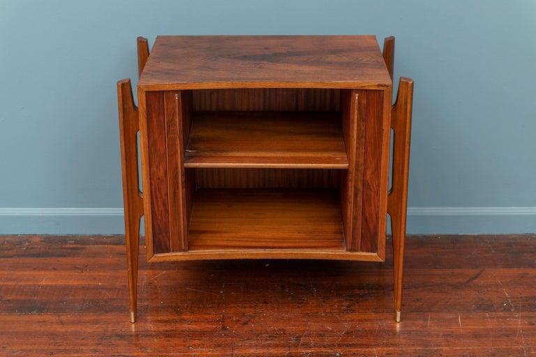 Scandinavian Modern William Hinn Exoskeleton Side Table or Cabinet for Urban Furniture For Sale