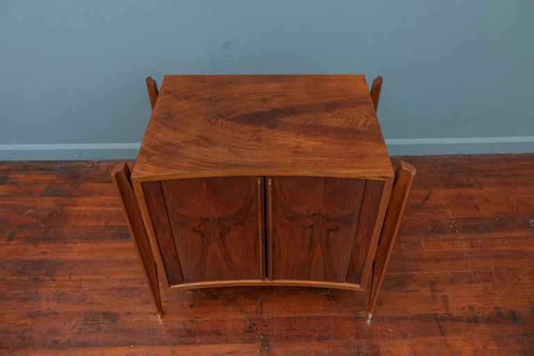 Walnut William Hinn Exoskeleton Side Table or Cabinet for Urban Furniture For Sale