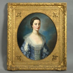 Mid 18th Century Oil Painting by William Hoare of Bath, Portrait of Ann Bathurst