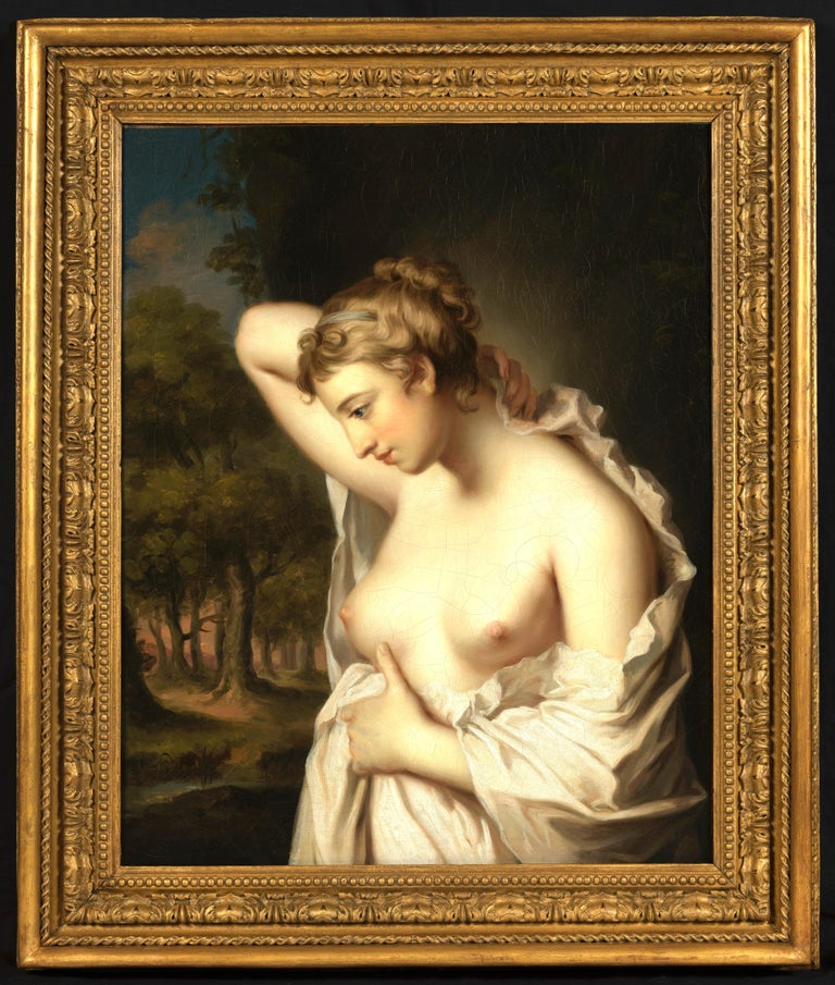 William Hoare Nude Painting - The Bath Beauty