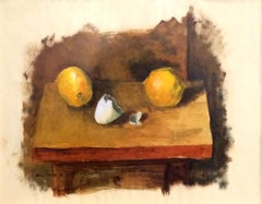 Color Sketch of Lemons and Eggshells