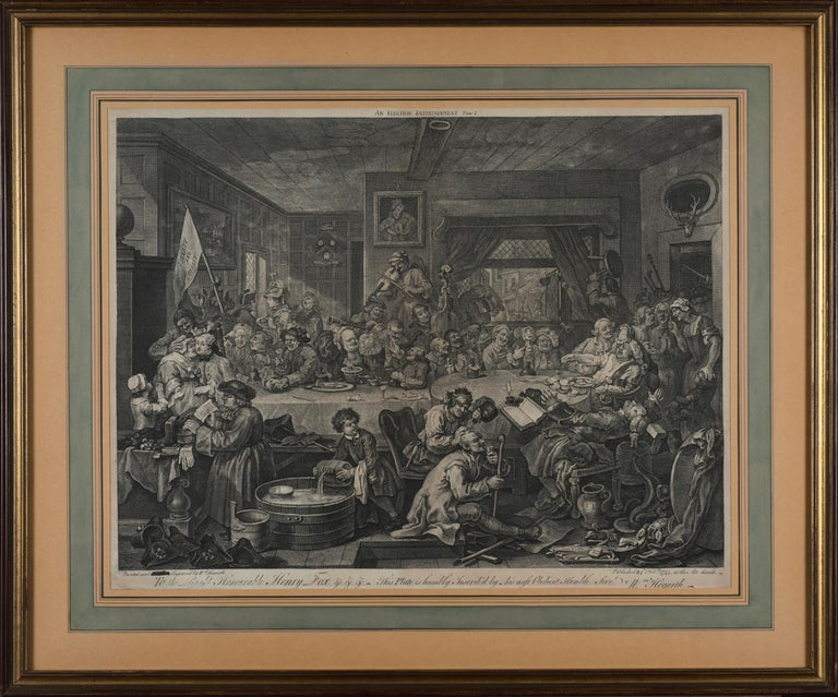 An Election Entertainment - Original Etching by William Hogarth - 1755 For Sale 1