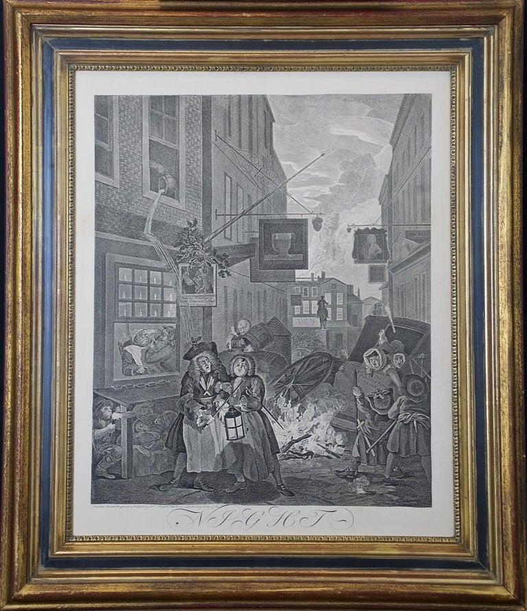 Four Framed Engravings from William Hogarth's