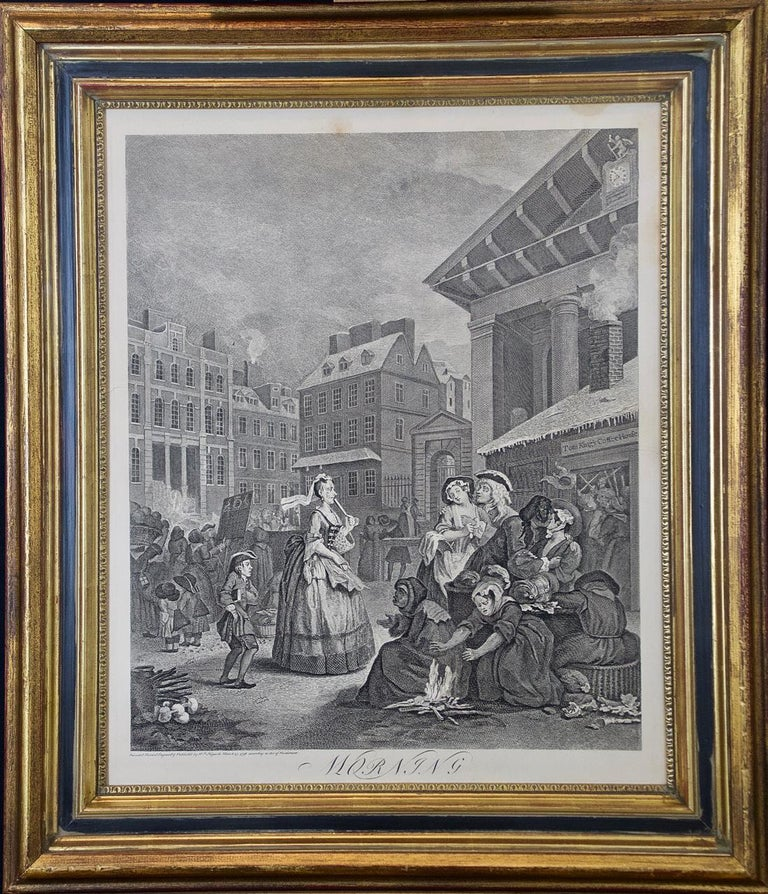 """Four Framed Engravings from William Hogarth's """"Four Times of the Day"""" Series - Print by William Hogarth"""