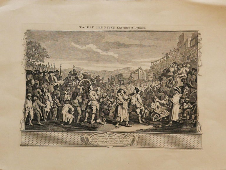"""The Polling is an original etching realized by William Hogarth in 1758. The etching was engraved also by Francois Morellon de la Cave.  Original title: The Polling, Plate III: Four Prints of an Election.  Signature on plate: """"Engrav'd by W. Hogarth"""