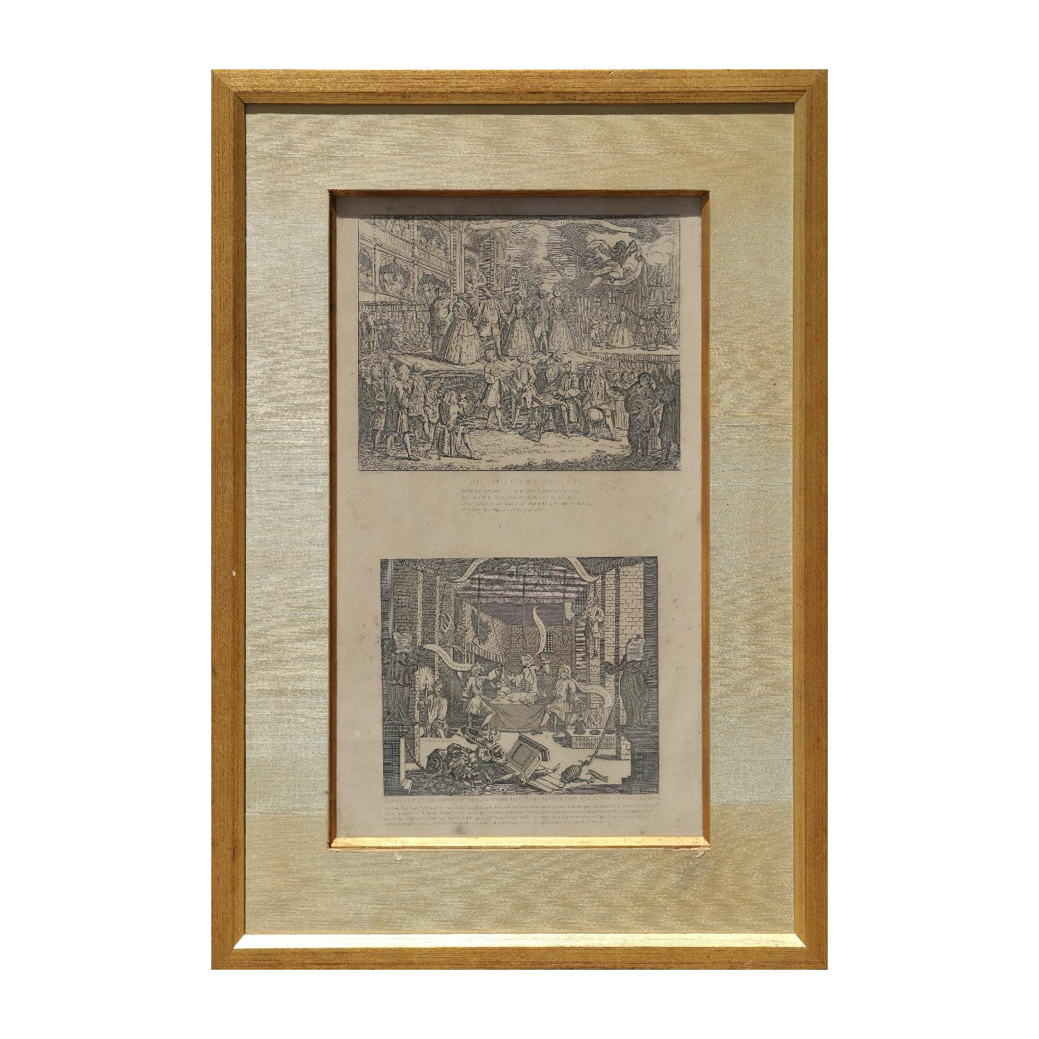 """""""The Beggars Opera"""" and """" A Just View of The British Stage"""" Original Etchings"""