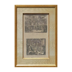 """The Beggars Opera"" and "" A Just View of The British Stage"" Original Etchings"