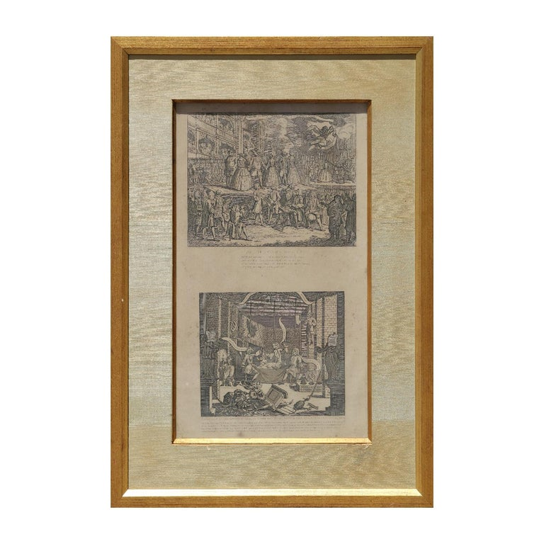 "William Hogarth Print - ""The Beggars Opera"" and "" A Just View of The British Stage"" Original Etchings"