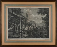 The Polling - Original Etching by William Hogarth - 1758