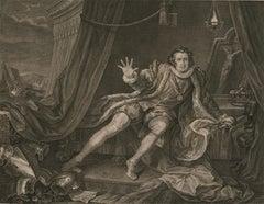 William Hogarth (1697–1764) - 1746 Engraving, Mr Garrick, Richard the Third
