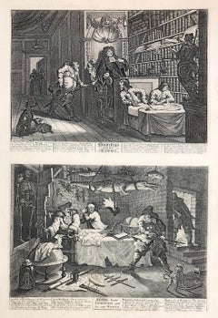 William Hogarth (1697-1764) Hudibras and the Lawyer/Hudibras beats Sidrophel.
