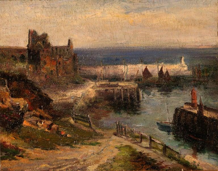 """william hoggatt Landscape Painting - """"Peel Castle.Isle of Man"""""""