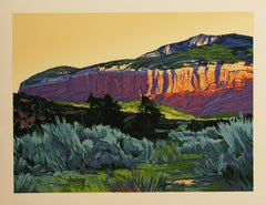 Chama Canyon hand pulled serigraph by William Hook