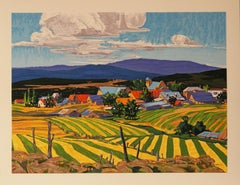 Los Ojos Village hand pulled serigraph by William Hook