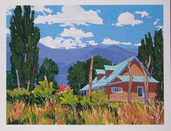 Turquoise Roof  William Hook serigraph