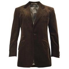 William Hunt of Savile Row Unworn Mens Brown Velvet Dinner Evening Blazer Jacket
