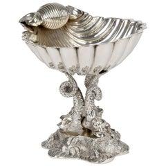 William Hutton Aesthetic Movement Silver Plated Clam Shell Bon-Bon Dish
