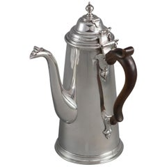 William III Britannia Silver Chocolate Pot, London, 1698