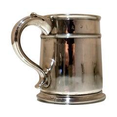 William III Britannia Silver Pint Mug London 1697 Benjamin Pyne
