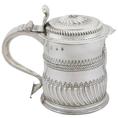 Britannia Standard Silver Quart Tankard, 1697