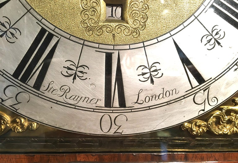 English William III Marquetry Longcase Clock by Stephen Rayner, London