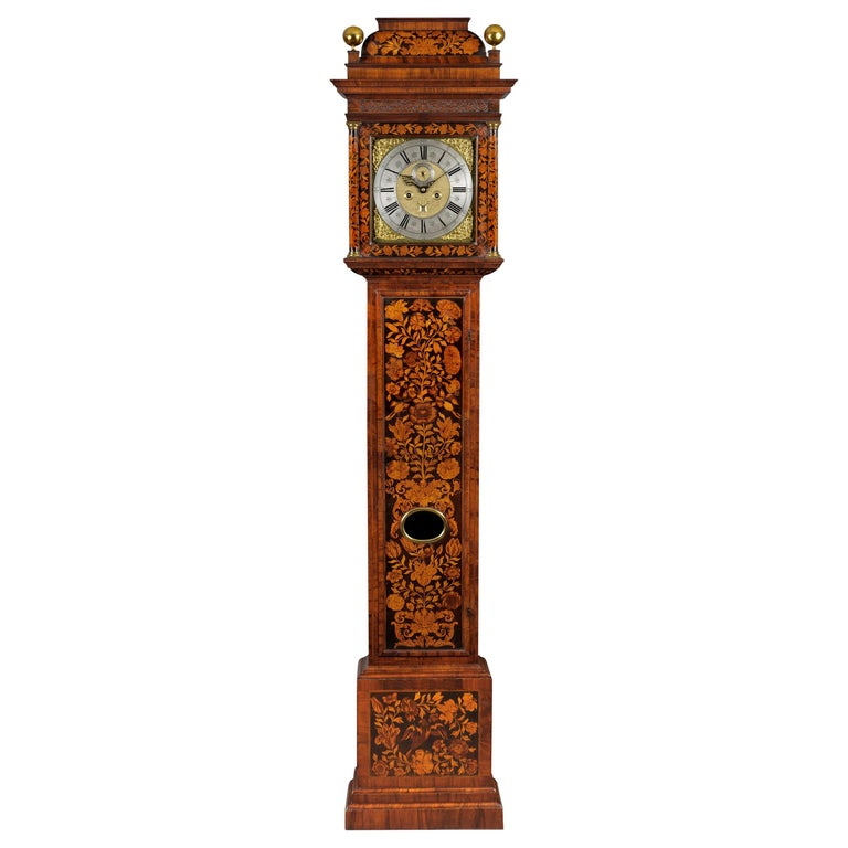William III Marquetry Longcase Clock by Stephen Rayner, London