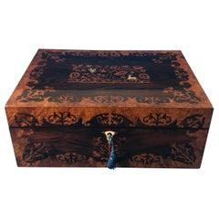 William IV 1830 pollard oak and Rosewood jewellery  box