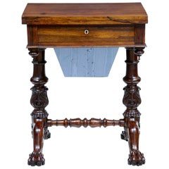 William IV 19th Century Palisander Work Table