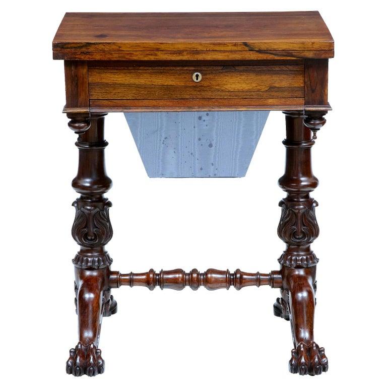 William IV palisander work table, 1830, offered by Debenham Antiques Ltd