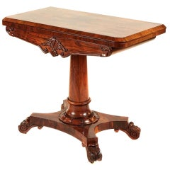 William IV Antique Rosewood Card Table, circa 1835