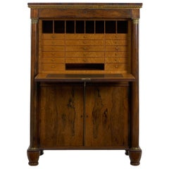 William IV Antique Rosewood Writing Desk Secrétaire á Abattant, English