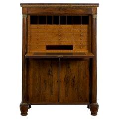 William IV Antique Rosewood Writing Desk Secrétaire á Abattant, English