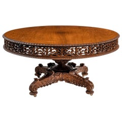 William IV Colonial Padouk Round Table