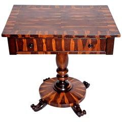 William IV Coromandel Single Drawer Side Table