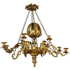 William IV Gilt Bronze Chandelier