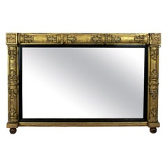 William IV Giltwood over Mantel Mirror