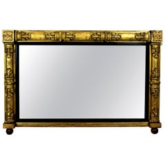 William IV Giltwood Overmantel Mirror