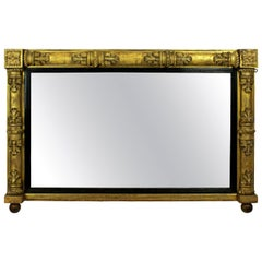 William IV Giltwood Overmantel Mirror